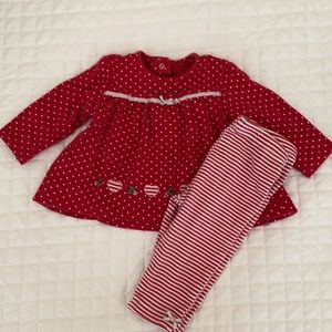 My First Christmas 🎄 tunic & pant - 6 months